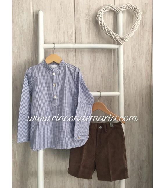 Liberty Camisa Niño Microcuadros + Bermuda Micropana