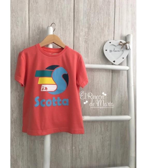 Camiseta Niño Fast Coral