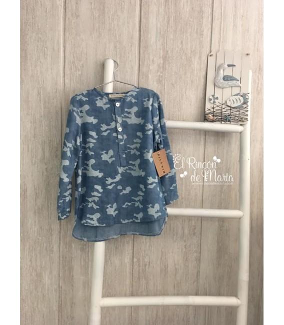 Camisa Azul Camuflaje