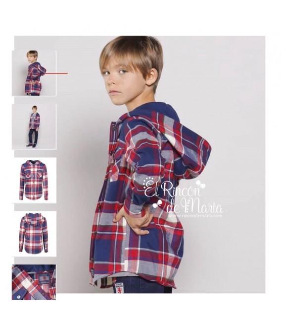 Camisa Cuadros Capucha