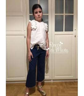 Blusa Blanco sin manga