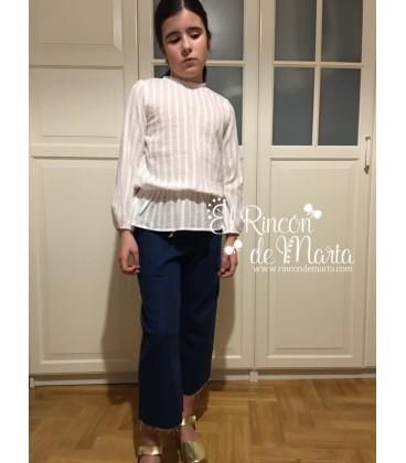 Blusa Blanco manga larga