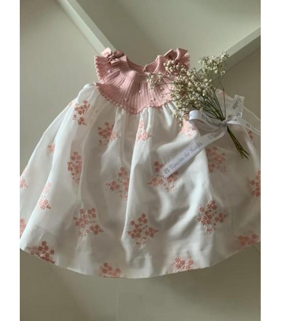 Minivestido Bebé Niña Rosa Colección Ceremonia de Carmen Taberner, Verano 2020