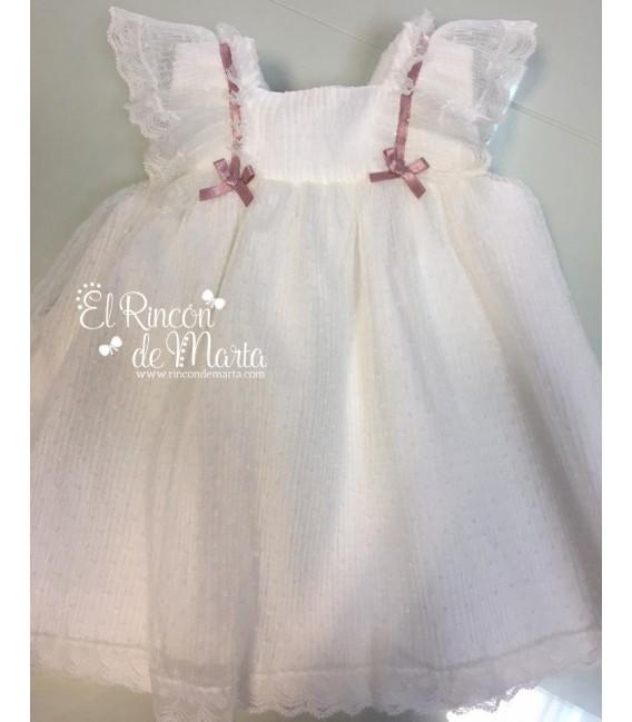 Vestido Niña Tul Crudo Colección Ceremonia de Carmen Taberner, Verano 2020