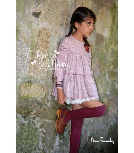 Vestido Niña Colección Granate de Noma Fernández, Invierno 2020-21