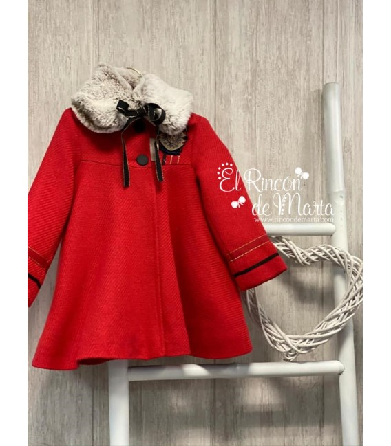 Abrigo Capa Niña Rojo Colección Invierno 2020-21 de Noma Fernández