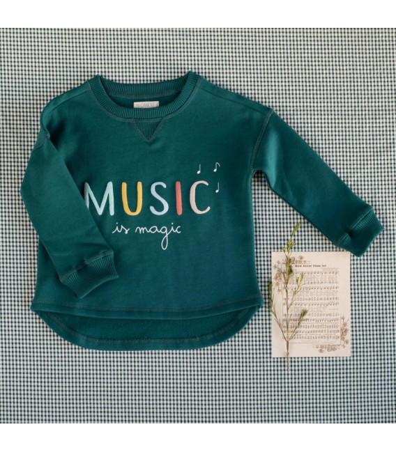 Jogging Unisex Verde Music Colección Fábula de Mi Canesú, Invierno 2020