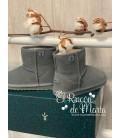 Bota Unisex Gris Mini Teens Modelo Wallaby de Emu Australia, Invierno 2020