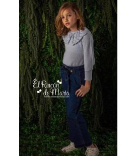 Jeans Niña Marino Talle Alto Colección Invierno 2020 de My Bella Moon