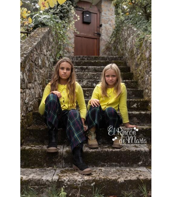Chaqueta Niña Punto Amarillo Colección Invierno 2020 de Mia y Lia