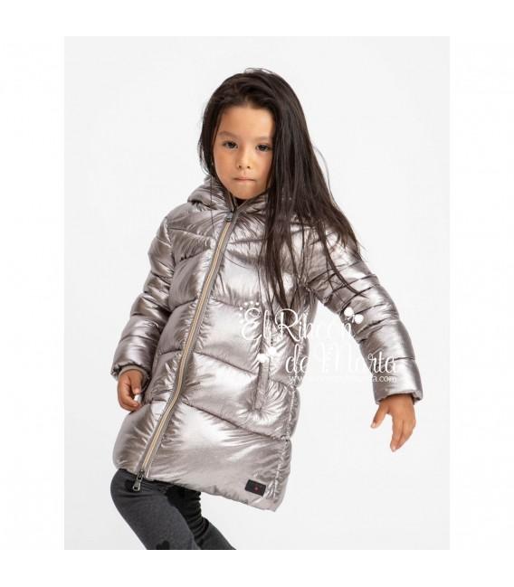 Abrigo Niña Plata Metalizado Colección Invierno 2020 de Canadian