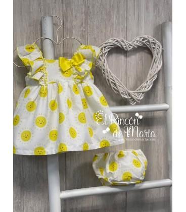 Jesusito Niña Soles Amarillo Colección Verano 2021 de Mon Petit Bonbon