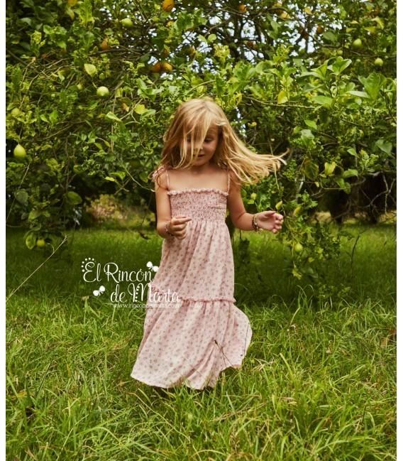 Vestido Juvenil Niña Midi Nude Colección Dream in Colour de Mia y Lia, Verano 2021