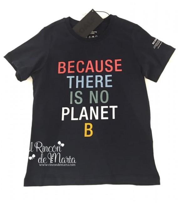 Camiseta Niño Azul Marino Planeta B Colección Verano 2021 de Ecoalf