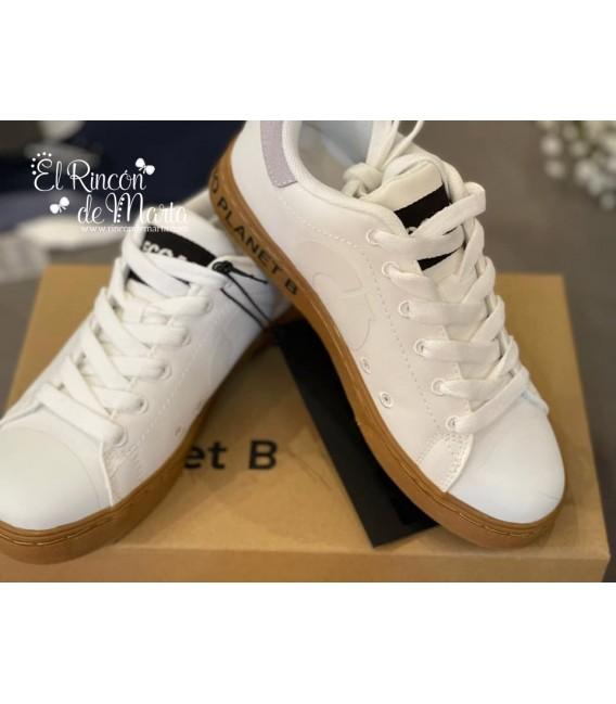 Sneaker Kids Unisex Blanca Colección Verano 2021 de Ecoalf