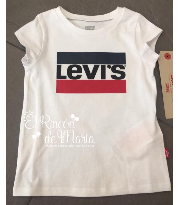 Camiseta Niña Blanca Colección Verano 2021 de Levi's