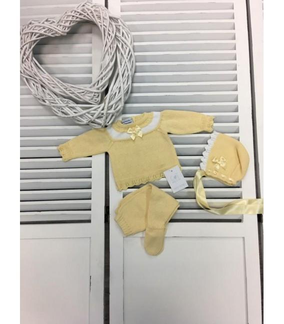 Conjunto 3 Piezas Amarillo & Blanco