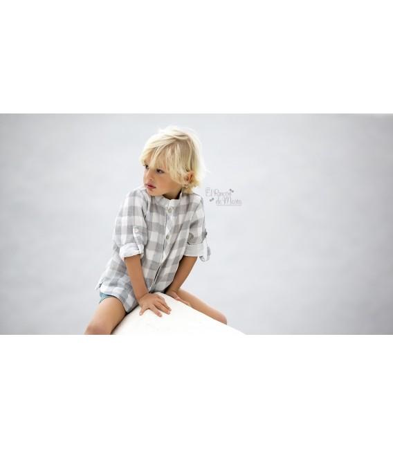 Niza (Estrellas Aguamarina) Camisa Cuadros + Pantalón